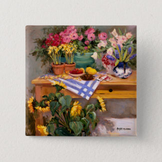 Fresh Flowers I Pinback Button