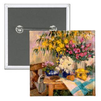Fresh Flowers II Pinback Button