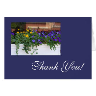 Fresh Flowers Thank You Card Template