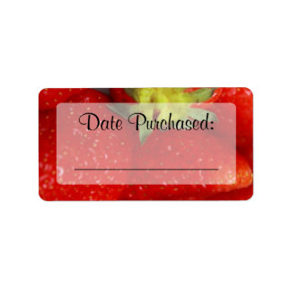 """Fresh Food Kitchen """"Date Purchased"""" Label"""