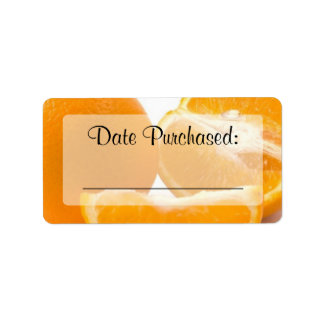 "Fresh Food Kitchen ""Date Purchased"" Label"