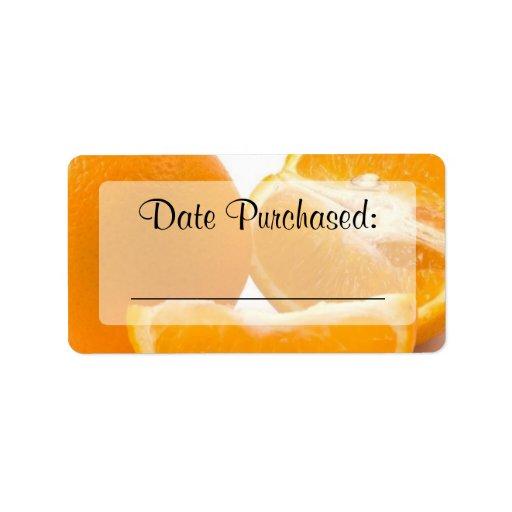 "Fresh Food Kitchen ""Date Purchased"" Label Address Label"