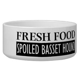 fresh food SPOILED BASSET HOUND Bowl