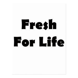Fresh For Live Postcard