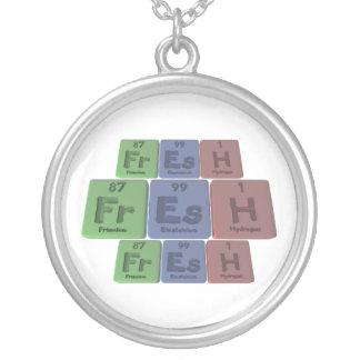 Fresh-Fr-Es-H-Francium-Einsteinium-Hydrogen.png Round Pendant Necklace