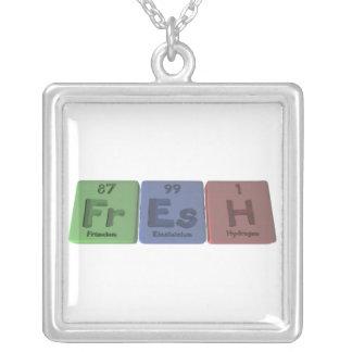 Fresh-Fr-Es-H-Francium-Einsteinium-Hydrogen.png Square Pendant Necklace