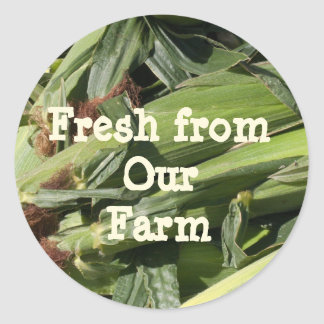 Fresh From Our Farm Template Classic Round Sticker