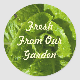 Fresh From Our Garden Template Classic Round Sticker