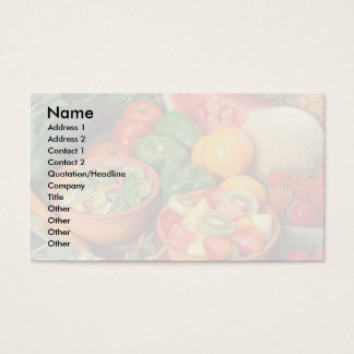 Fresh fruit and vegetables business card