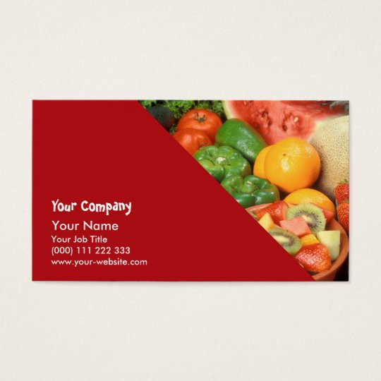 Fresh fruit and vegetables business card zazzle fresh fruit and vegetables business card reheart Image collections