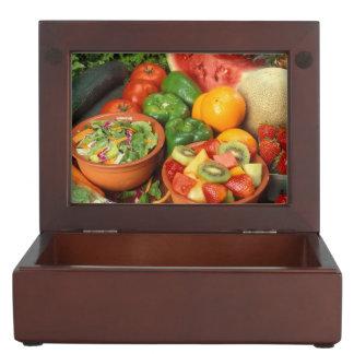 Fresh fruit and vegetables memory box