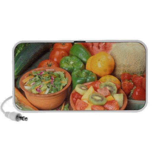 Fresh fruit and vegetables notebook speakers