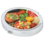 Fresh fruit and vegetables vanity mirror