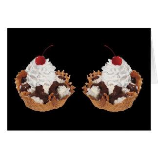 Fresh Fruit Cherry Dessert Cake Birthday Card