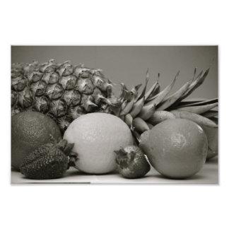 Fresh Fruit in Black and White Photo Print