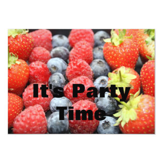 Fresh Fruit  It's Party Time Invitation
