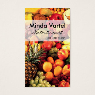 Fresh Fruit Nutritionist Food Coach, Healthy Business Card