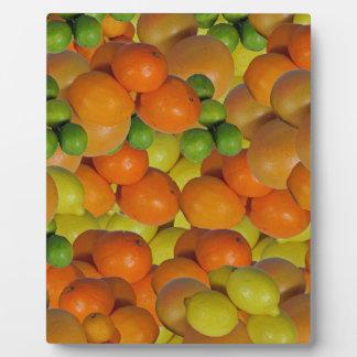 fresh fruit plaques
