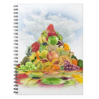 Fresh Fruit Pyramid Notebook