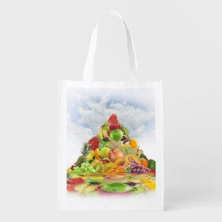 Fresh Fruit Pyramid Reusable Grocery Bag