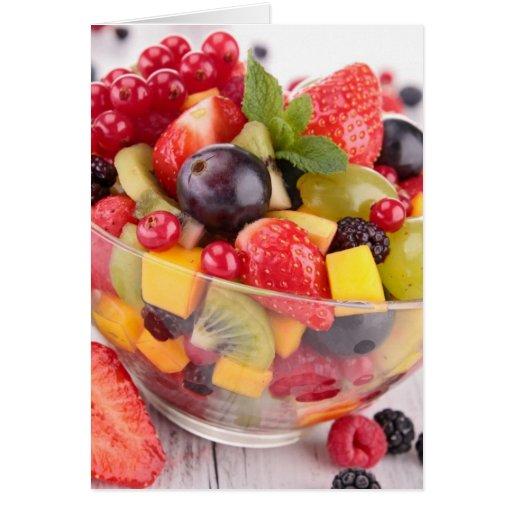 Fresh fruit salad card