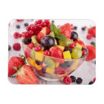 Fresh fruit salad flexible magnets