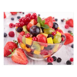Fresh fruit salad post cards