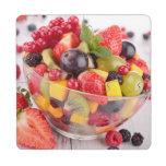 Fresh fruit salad puzzle coaster