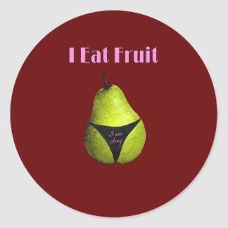 Fresh fruit sugar classic round sticker
