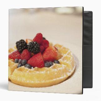 Fresh fruit waffle 3 ring binder