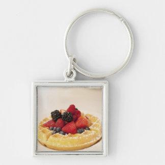 Fresh fruit waffle keychain