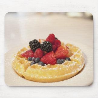 Fresh fruit waffle mouse pad