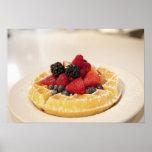Fresh fruit waffle poster