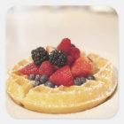 Fresh fruit waffle square sticker