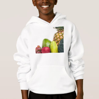 Fresh Fruits and Vegetables Layout Hoodie