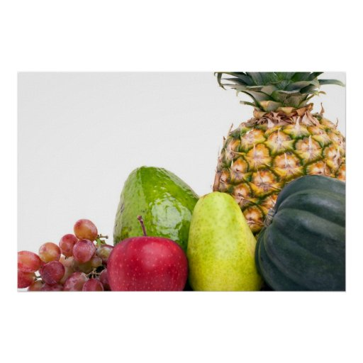 Fresh Fruits and Vegetables Layout Print