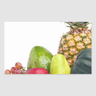 Fresh Fruits and Vegetables Layout Rectangular Sticker