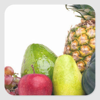 Fresh Fruits and Vegetables Layout Square Sticker