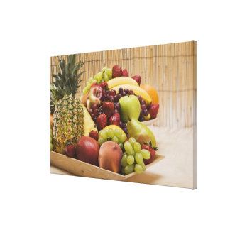 Fresh fruits canvas prints