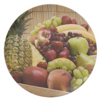 Fresh fruits dinner plate