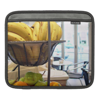 Fresh fruits in cafe iPad sleeves