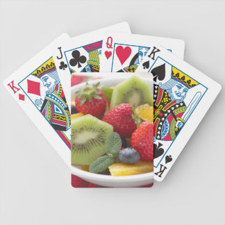 FRESH fruits salad in bowl Bicycle Playing Cards