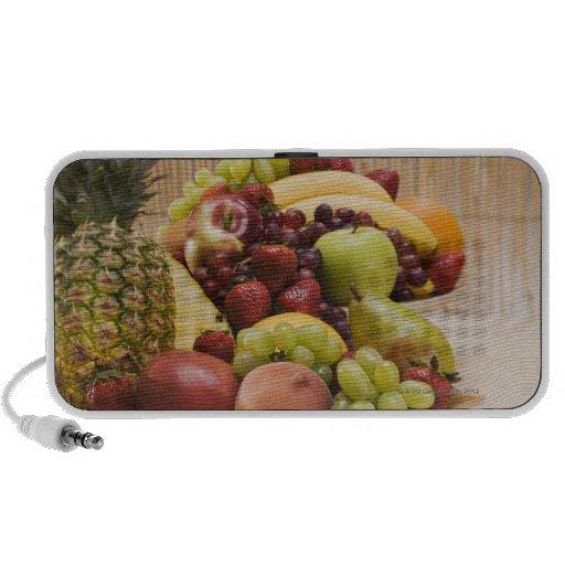Fresh fruits notebook speakers