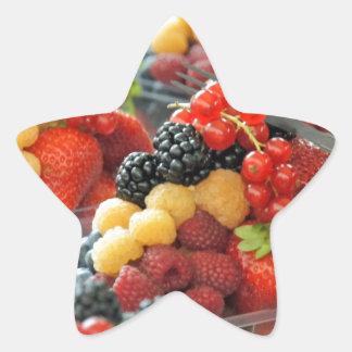 fresh fruits star sticker
