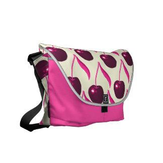 Fresh Fruity Cherries and Cream Pattern Messenger Bag