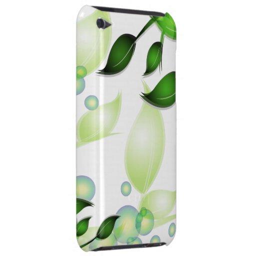 Fresh Garden Leaves on White Case-Mate iPod Touch Case