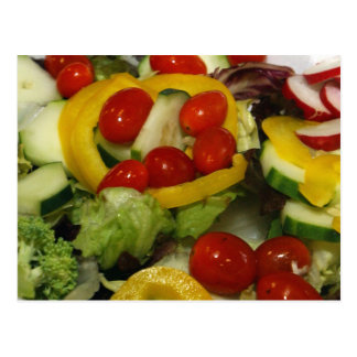 Fresh Garden Salad Postcard