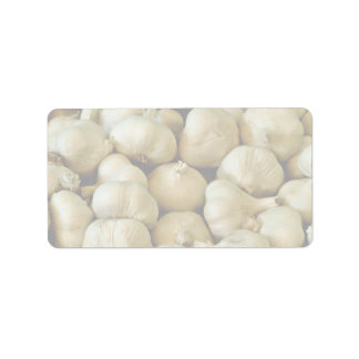 Fresh garlic Photo Address Label