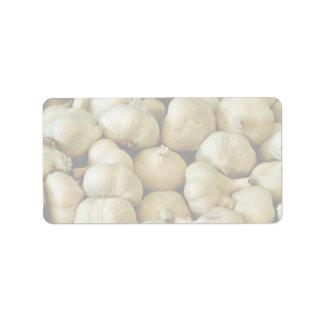 Fresh garlic Photo Label
