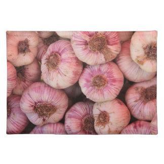 Fresh garlic placemat